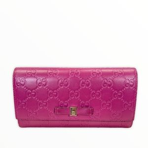 Gucci Wallet long leather Pink used